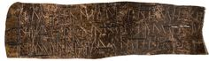 Birch bark letter no. 292 - This is the oldest known document in any Finnic language. The language used iis thought to be an archaic form of the language spoken in Olonets Karelia. Although the exact form is difficult to determine as Finnic dialects were only developing during that period, the text is written in Cyrillic. Martti Haavio's  interpretation of the text suggests that this is a sort of an oath.  God's arrow, man's  arrow, and (his) own arrow.   To be chained by the Doom-God.