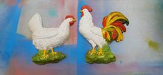 60s Homco Chickens / Vintage Homco Hen and by DameWhoFrames
