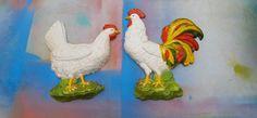 SALE 25% OFF 60s Homco Chickens / Vintage Homco by DameWhoFrames