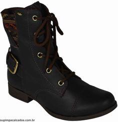 Bota Feminina Dakota  Com pegada militar e traduzido para look's feminino o coturno é um estilo de bota que vem ganhando espaço no closet feminino! #dakota #bota #inverno #supimpacalcados #supimpaONline