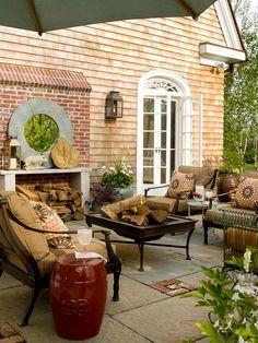 Modern Victorian patio