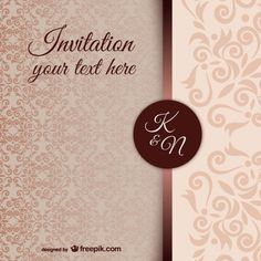 vintage-invitation-template-with-damask-pattern_23-2147498247.jpg (626×626)