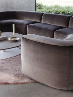 BO sofa, BELLE armchair and KEK coffee table and KLINK side table