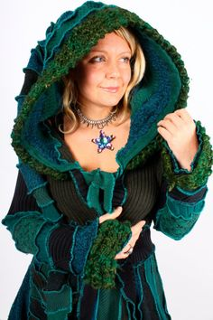 """""""Branson the Irish rebel"""" carousel coat by Katwise.  Love her stuff.  I have pattern and am working on a 'new' concept and have finished items, but everyone claims them before I can list them."""