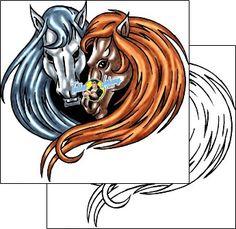 Horse Tattoo animal-tattoos-kole-klf-00461
