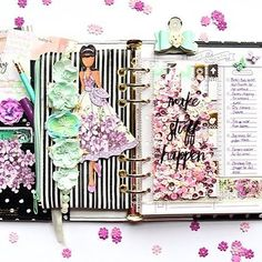 """The color combination this month is absolutely gorgeous!  I used this fabulous palette to set up my My Prima Planner - """"In the Moment"""" planner.  I added one of my favorite Julie Nutting dolls """"Camille"""", donned in a beautiful dress inspired by the palette this month, to add a bit of whimsy and fun."""" ~ Robin Shakoor #mpp #myprimaplanner #plannerlove #plannergirl #plannersupplies #plannercommunity"""