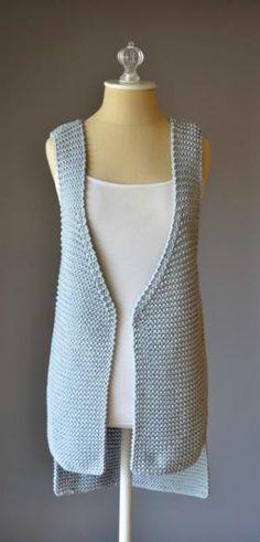 Удлиненный жилет платочным узором - Фото 1