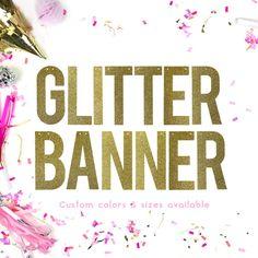 Custom Glitter Banner/ Custom Banner / Personalised by AllHerGlory