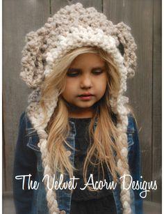 Crochet PATTERN-The Lyra Lamb Hood  12/18 monthToddler