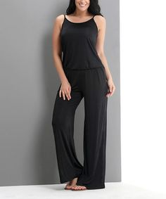 Look at this #zulilyfind! Black Camisole Jumpsuit - Plus by Reborn Collection #zulilyfinds