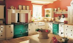 AGA Modules - make your AGA cooker even more versatile with an Integrated Module or Freestanding Module. View our range of electric AGA ovens online today. Aga Kitchen, Green Aga, Kitchen Design, Aga Stove, New Kitchen, Kitchen, Uk Homes, Kitchen Cabinets, Aga Cooker