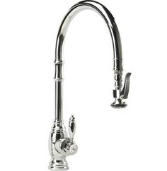 Waterstone 5500-CH Chrome Traditional PLP Pulldown Extended Reach Faucet