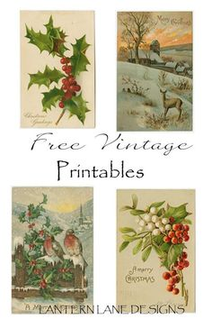 Free Vintage Printables and How To Make Your Own Printables
