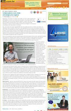 Título:Colaboradores com visão estratégica do negócio Veículo:Portal RH Data: 06/07/2015. Cliente: CAS Tecnologia
