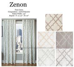 zenon linen style curtains new
