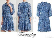 Princess Madeleine of Sweden wore Alice Temperley Leopard Print Dress www.newmyroyals.com