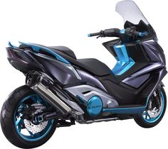 Tokyo Motorcycle Show : Concept Kymco Scooter Yamaha, Maxi Scooter, Motor Scooters, Motor Car, Tmax Yamaha, Custom Vespa, Honda Ruckus, Motorized Bicycle, Motorcycle News