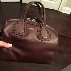 Givenchy Micro Nightingale Maroon Crossbody New with tags! Perfect to carry as a handbag or crossbody . Beautiful rich wax wine color.. NO TRADES OR LOW BALL OFFERS PLEASE Givenchy Bags Crossbody Bags