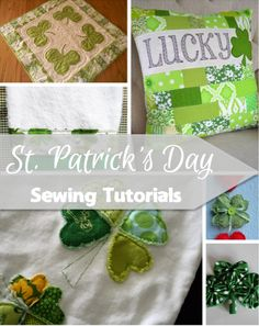 If you are looking to spread some Irish cheer, then check out these St. Patrick's Day sewing tutorials. Add a little luck to your decor.