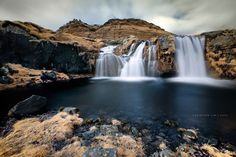Infrared shot of Kirkjufellsfoss (Snaefellsnes Peninsula, West, Iceland) © Christian Lim — in Iceland.