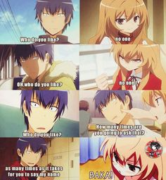 Ryuuji and Taiga.... So cute. A real guy would never think of saying something like that... Forever alone T___T //This anime is so cute ;3; I'm sad it ended though