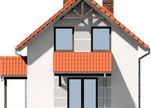 DOM.PL™ - Projekt domu ARD Stokrotka 1 CE - DOM RD1-42 - gotowy koszt budowy Small Wooden House, Home Fashion, House Plans, Cabin, House Styles, Home Decor, Brick Homes, Blueprints For Homes, Homemade Home Decor