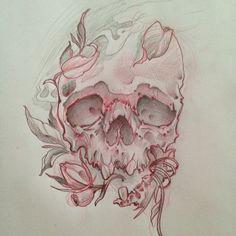 .@candicechurchill | Tomorrow's work #skull #skulltattoo  #skullsketch | Webstagram