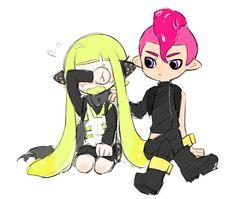 Nintendo Splatoon, Splatoon 2 Art, Splatoon Comics, Romantic Kisses, Sonic And Amy, Chibi Characters, Videogames, Anime, Cartoons