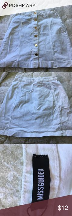 Missguided White Denim Skirt Never worn, tags still on Missguided Skirts