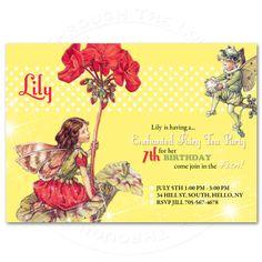 Birthday invitation Enchanted Fairy Tea Party