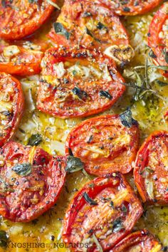 32 Amazing Roasted Vegetable Recipes - Easy to make and quick to prepare, ideas for meals and side dishes that can feed a small family. Or load up the tray for party food ideas Amazing Roasted Vegetable Recipes Roasted Vegetable Recipes, Veggie Recipes, Vegetarian Recipes, Cooking Recipes, Healthy Recipes, Veggie Food, Cooking Tips, Roma Tomato Recipes, Baked Tomato Recipes