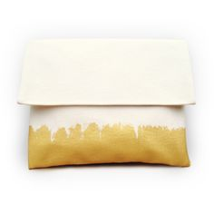 Clutch Gold On White