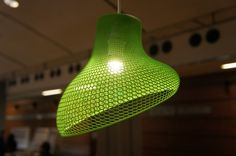 3D Printed Lamp, made from powdered nylon - Highlights of the 3D Printshow Paris #3dprinting #tech