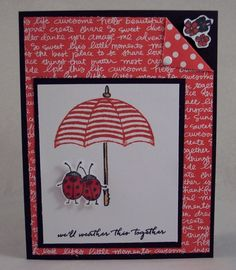 We'll Weather it Together Ladybugs by HeatherHolbrook - Cards and Paper Crafts at Splitcoaststampers