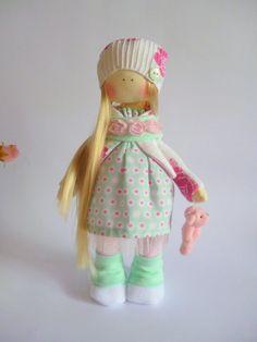 Handmade doll ragdoll toyTilda dolls por ChernikovaNataliya en Etsy