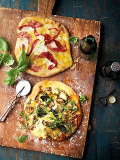 Nothing beats a homemade pizza! We've swapped the usual tomato sauce for cheese, making this pizza recipe the ideal way to use up cheesboard leftovers.