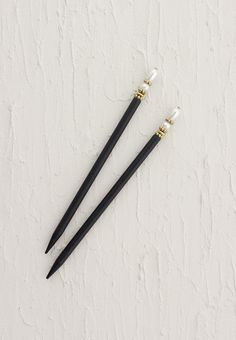 "Lilla Rose Inc - Hair sticks topped with lovely pearls and gold accents - Includes two 5"" black sticks"