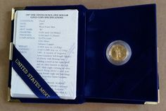 1997-W $5 1/10 oz Proof Gold American Eagle-FREE USA Shipping-One Tenth Ounce #USMint