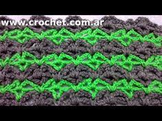 Punto Fantasía N° 18 en tejido crochet tutorial paso a paso. - YouTube