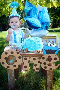 Hey, I found this really awesome Etsy listing at https://www.etsy.com/listing/183304511/first-birthday-cookie-monster-banner