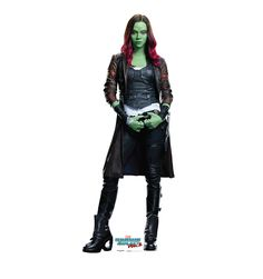 Gamora from Guardians of the Galaxy Vol. 2 Lifesize Cardboard Cutout