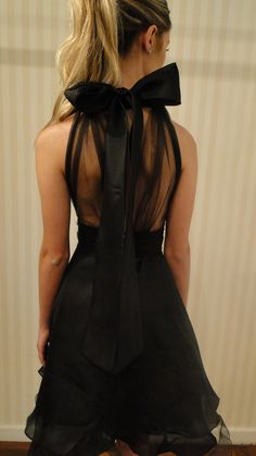 black bow back, pretty!