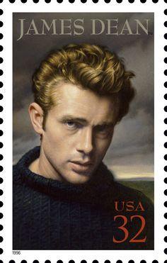 The James Dean Commemorative Stamp Artist: M.J. Deas.