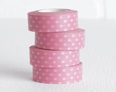 Light Pink Polka Dot Washi Tape Pink and by LobsterBisqueVintage