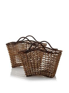 Padma's Plantation Set of 2 Bali Nesting Baskets with Rattan Handles at MYHABIT#page=d=home=A2N8DOR2IL6QOI=B006LN69UK=B006LN8JEO=qd_ug_b_img_d_1