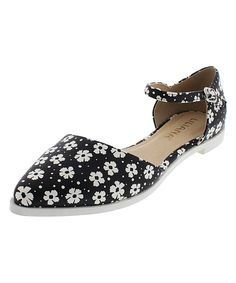 Love this Liliana Footwear Floral Julique Buckle D'Orsay Flat by Liliana Footwear on #zulily! #zulilyfinds