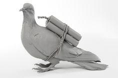 Pigeon 2014 Rubber x 26 x cm. Edition of 20 AP) Parallel Lives, Pigeon, Inventions, Lion Sculpture, Objects, Statue, Animals, Art, Art Background