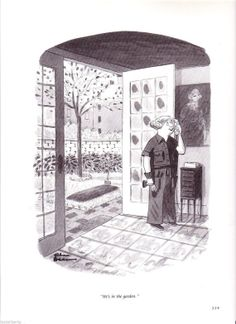 Vintage CARTOON Chas ADDAMS Wife Buries Husband in by Tasteliberty, $22.00