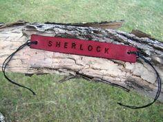 Red Sherlock BBC Inspired Tie Up Leather Fandom ID Bracelet on Etsy, $8.00 CAD