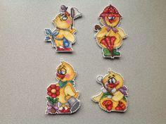 cross'n'stitch Easter ducks